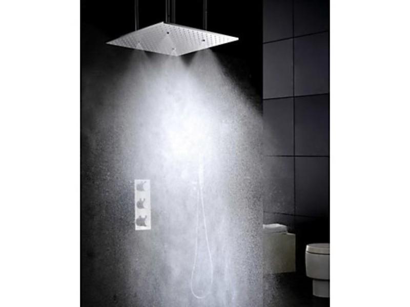 Robinet de douche thermostatique avec tête de douche oscillante