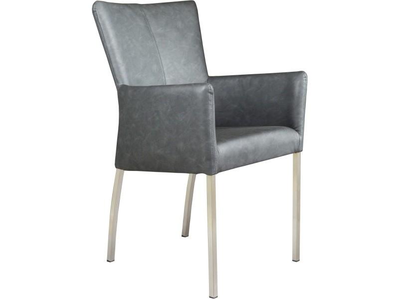 Simili Accoudoirs Avec Acier Et Style Moderne En Chaise Cuir HE29DI