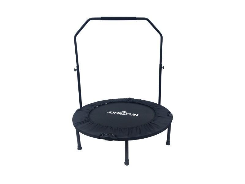 Mini trampoline fitness jump4fun double-bar pliable (noir, diamètre 92cm) M36TRAMPJ4F-DB001