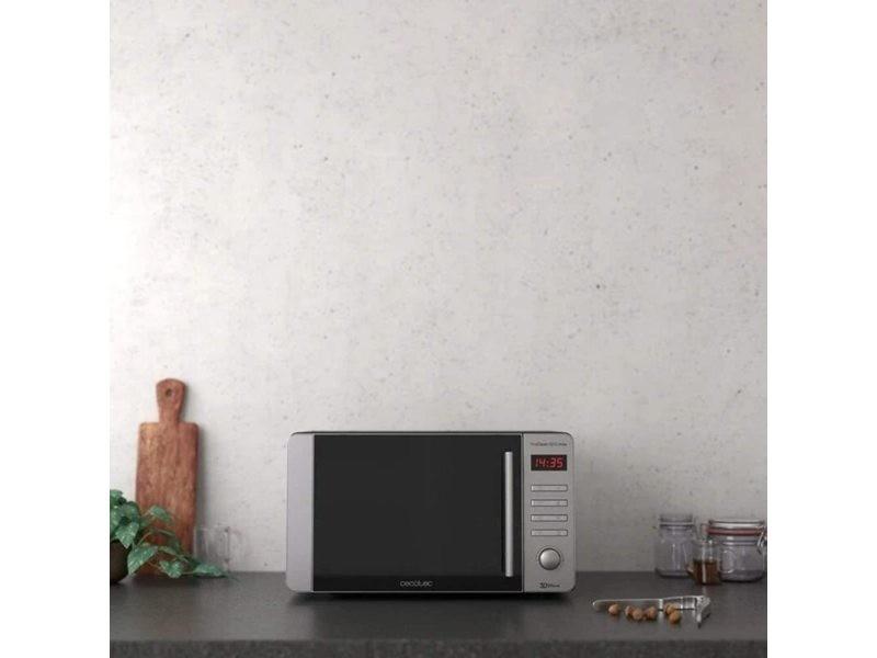 Micro-ondes de 20l avec 8 programmes 700w noir gris