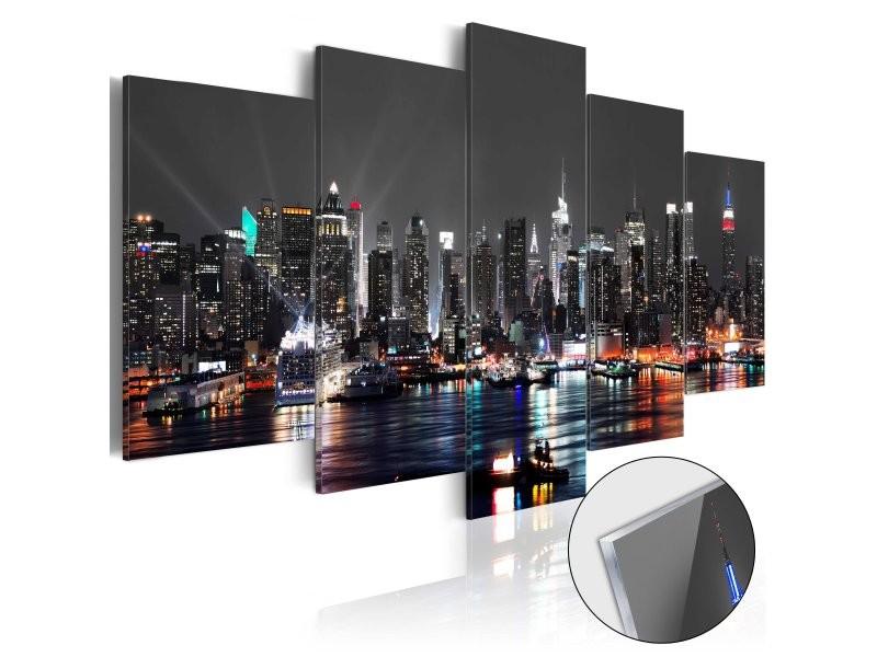 Tableaux en verre acrylique décoration murale motif ciel gris 100x50 cm tva110136