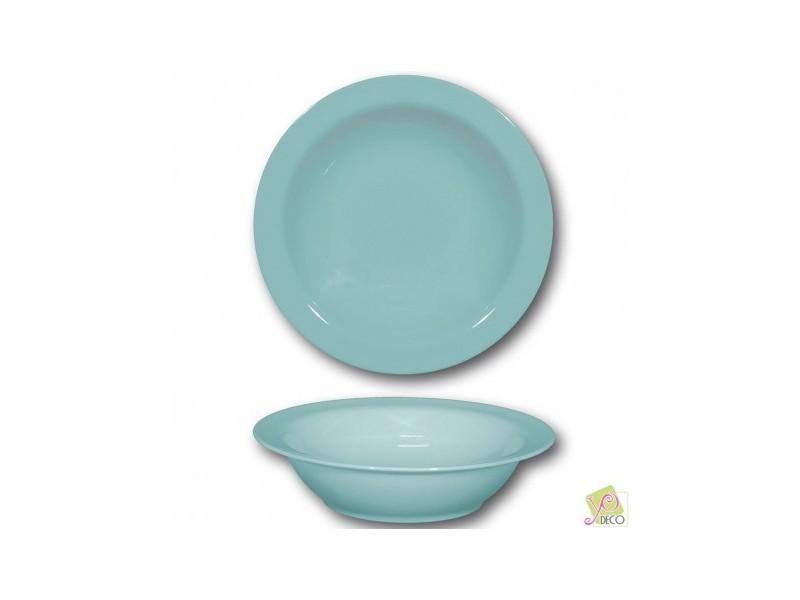 Plat creux en porcelaine bleue - d 26 cm - siviglia