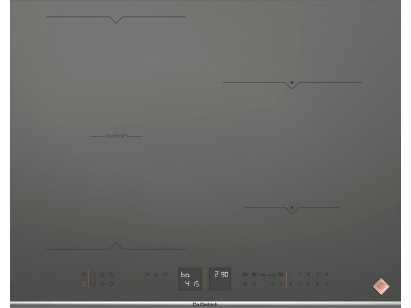 Table de cuisson à induction 65cm 4 feux 7400w gris - dpi7686gp dpi7686gp -  Vente de Plaque de cuisson - Conforama ce1417b75365