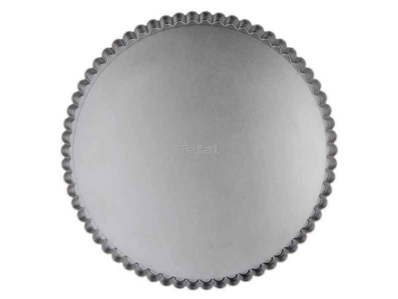 Moule a gateau - moule de patisserie moule a tarte delibake en acier - ø 30 cm - rouge et gris - fond amovible