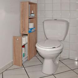 Meuble de toilettes 1 tiroir-2 niches alaska / chêne blanchi