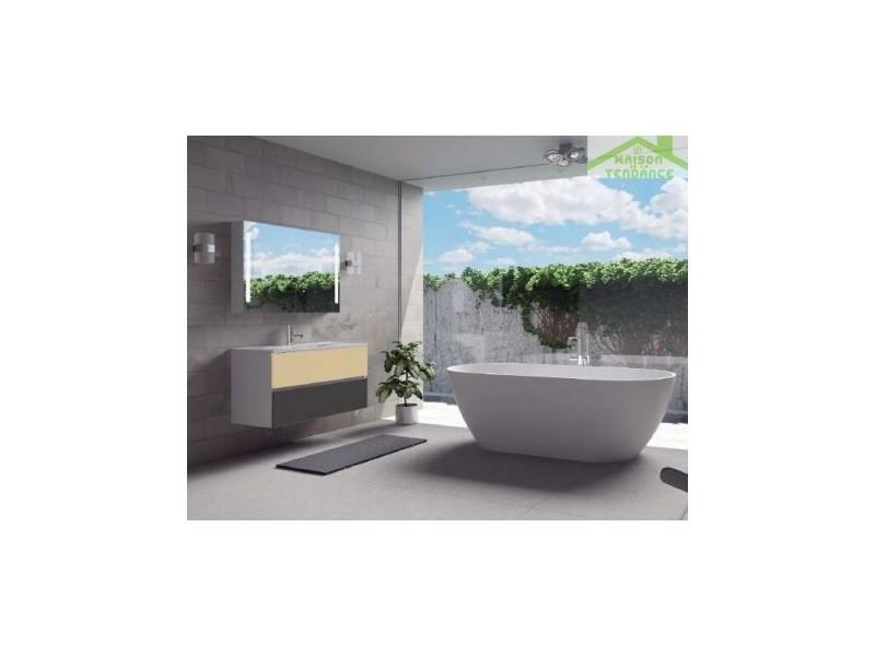 Ensemble meuble & lavabo riho cambio sentito set 12 100x48x h 57 cm - bois laqué brillant FSI100Z01DDDS12