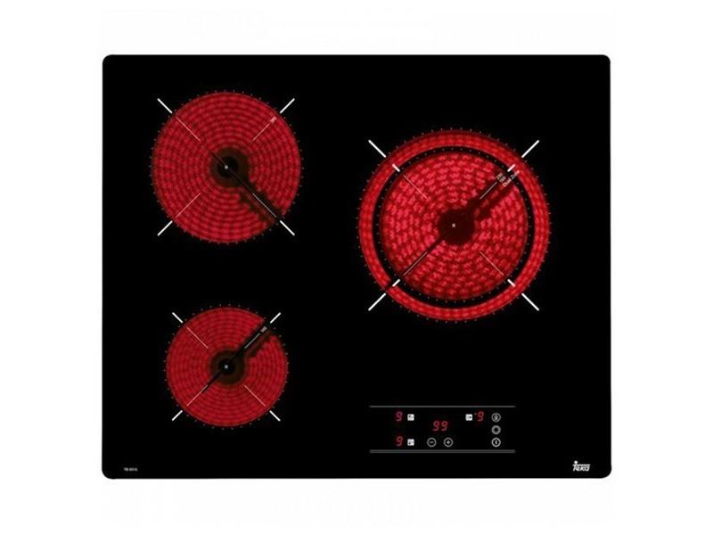 Plaques vitrocéramiques à 3 zones de cuisson 60 cm noir - plaque de cuisson cuisine