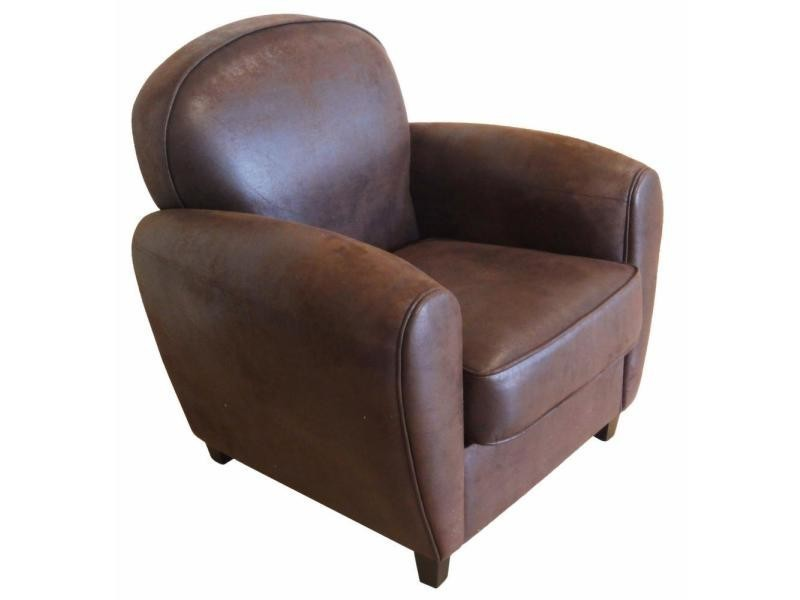 fauteuil club vintage grand classique vente de cotton wood conforama. Black Bedroom Furniture Sets. Home Design Ideas