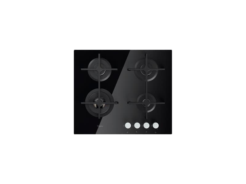 Whirlpool goa 6423/nb plaque noir intégré (placement) 60 cm gaz 4 zone(s) GOA 6423/NB