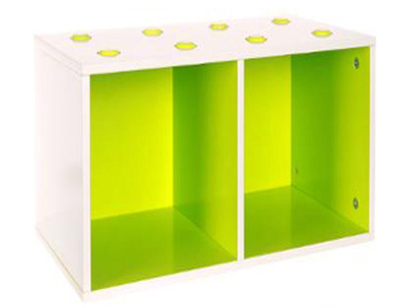 Etagère cube épaisseur 1.20 cm vert - dim : l 54 x p 27 x h 27 cm -pegane