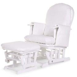 Housse blanche pour fauteuil d'allaitement