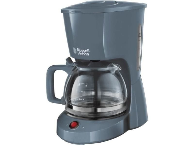 Russell hobbs 22613-56 machine a cafe, cafetiere filtre 1,25l texture, grande capacite - gris RUS5038061106626