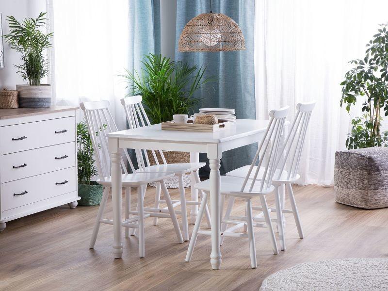 BELIANI Lot de 2 chaises blanches en bois BURBANK - blanc