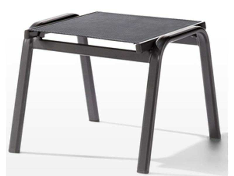 Tabouret de jardin en aluminium gris / gris - 56 x 57 x 44 cm -pegane-