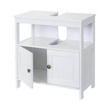 Meuble de rangement sous lavabo hwc b63 salle de bain - Meuble vasque salle de bain conforama ...