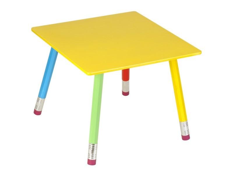 Table crayons en bois pour enfant 55x55x43cm