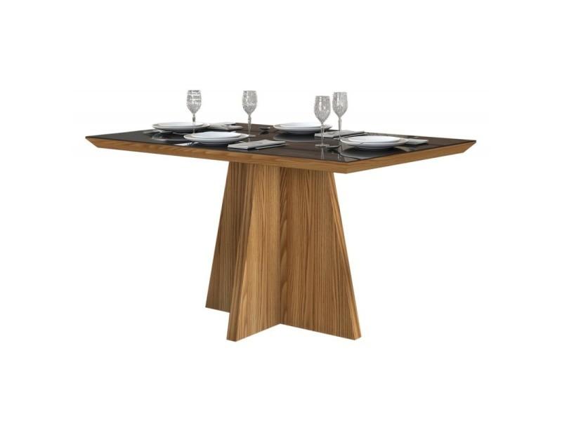 Table à manger 4 personnes chêne et noir
