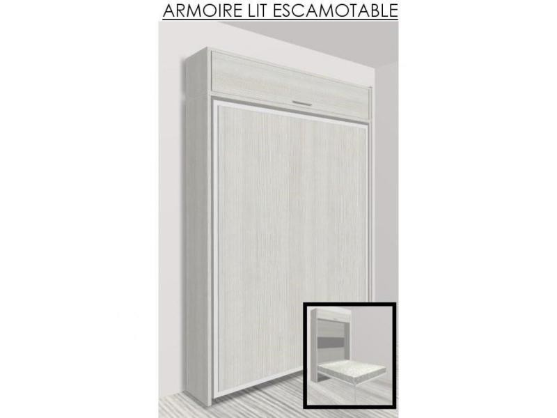elegant cool armoire lit escamotable eos chne blanc. Black Bedroom Furniture Sets. Home Design Ideas