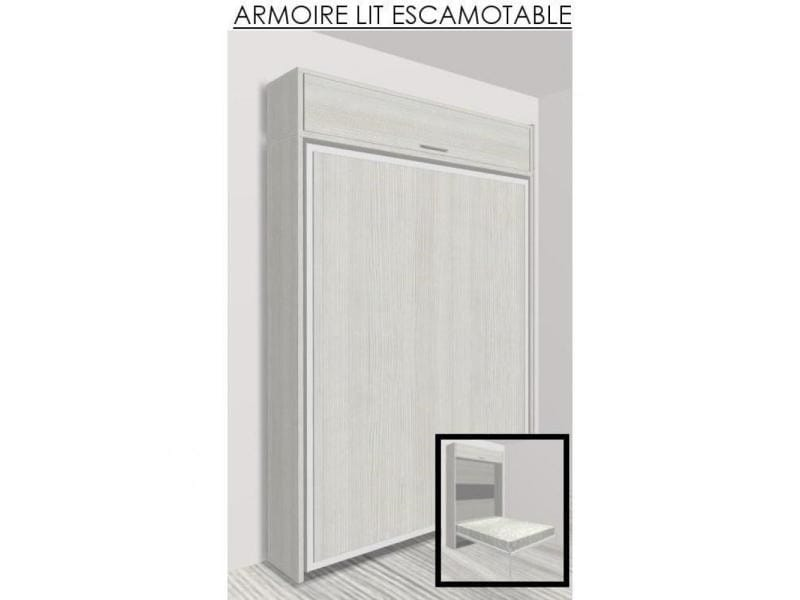 Elegant cool armoire lit escamotable eos chne blanc for Meuble qui ferme a clef