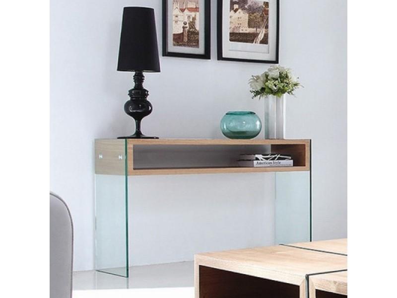 Console en verre design woodi
