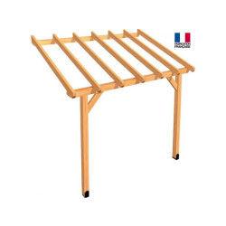 Jardipolys - auvent en bois 1 pan non-couvert 5,5 m2 - abs3020