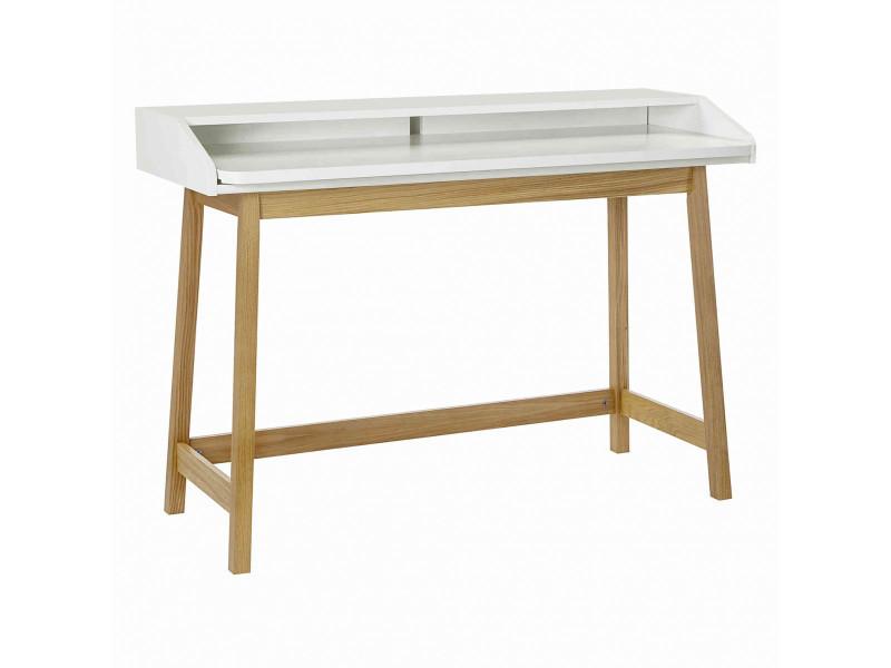 Bureau coulissant en bois blanc laqué - bu003