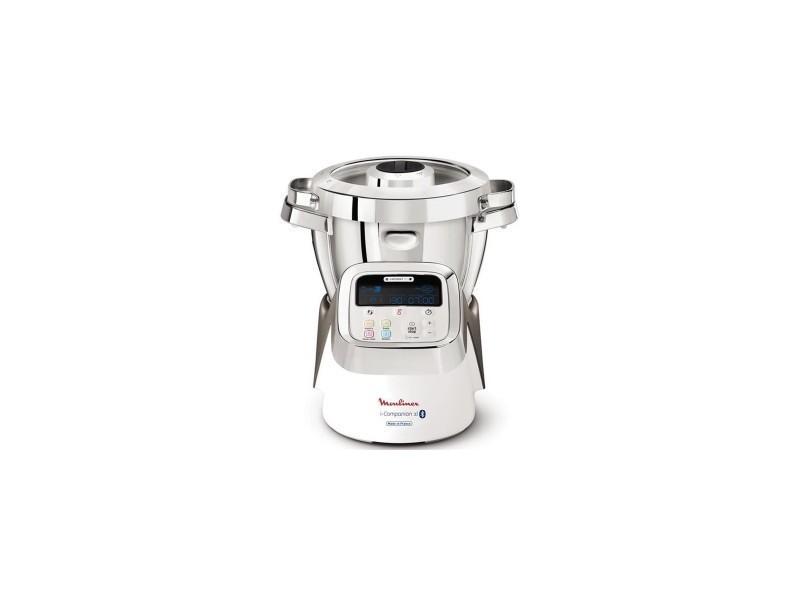 Moulinex robot cuiseur i-companion t° 30 a 130°c 13vit 500recettes 4,5l 1550w