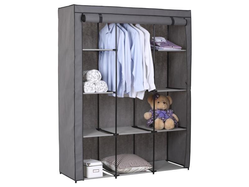 garde robe en tissu steven vente de idimex conforama. Black Bedroom Furniture Sets. Home Design Ideas