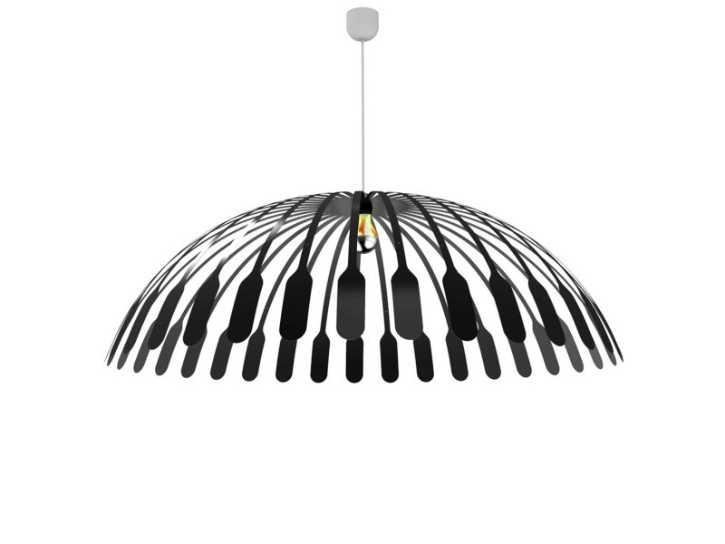 Suspension lustre en m tal noir solar vente de thomas de for Lustre en metal noir
