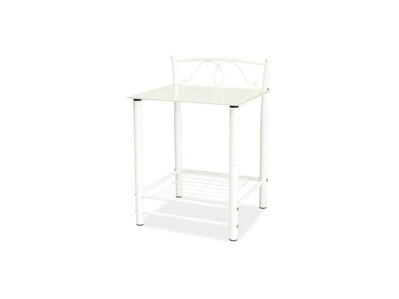 Table de chevet - et920 - 49 x 46 x 65 cm - blanc