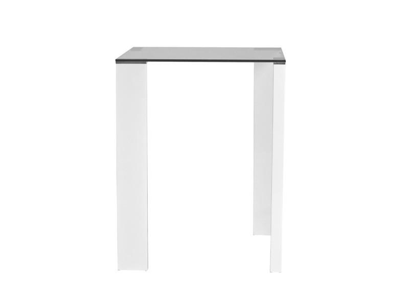 Table Haute Carree Blanche Lana Vente De Sofamobili Conforama