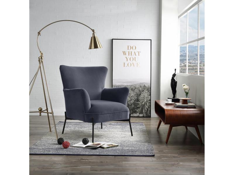 Bobochic fauteuil cliford gris
