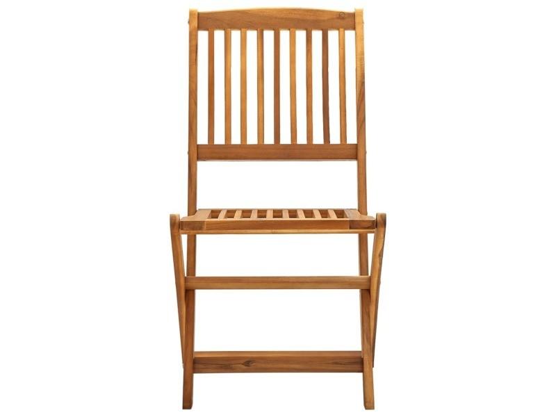 Vidaxl chaises pliables d'extérieur 4 pcs bois d'acacia solide 46340