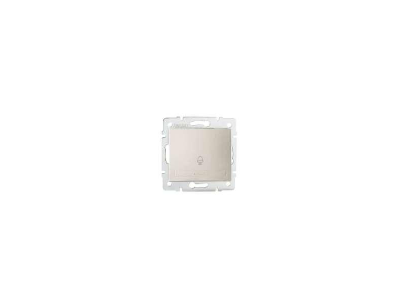 Bouton poussoir encastrable pour sonnette domo crème KL-24776