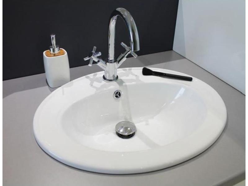 vasque c ramique ovale encastrer sita vente de. Black Bedroom Furniture Sets. Home Design Ideas