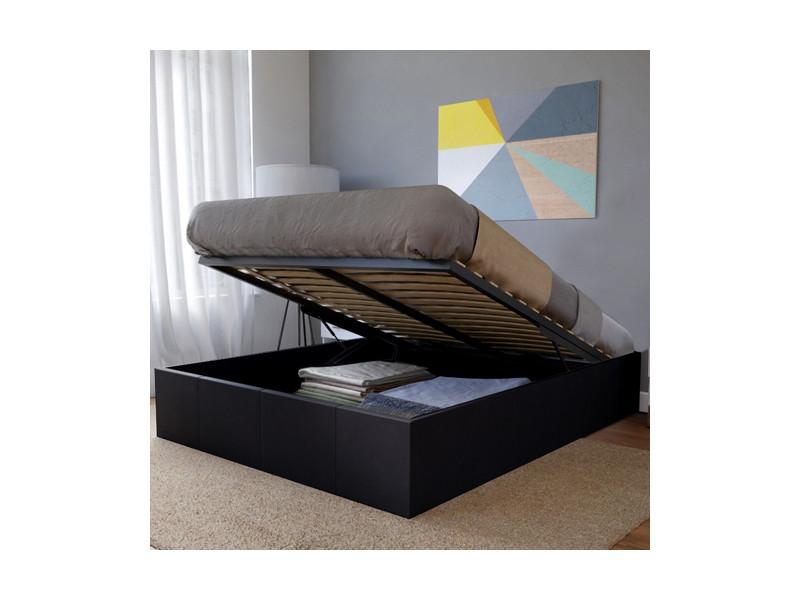 lit coffre torino 140x190 1 matelas memoryform 1 sommier noir 035516mat vente de lit. Black Bedroom Furniture Sets. Home Design Ideas