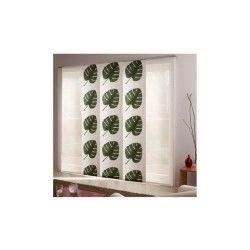 Panneau japonais feuilles vertes - 45 cm x 280 cm-blanc