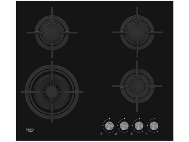 Table verre gaz 60cm 4 foyers noir - hilw64222s hilw64222s