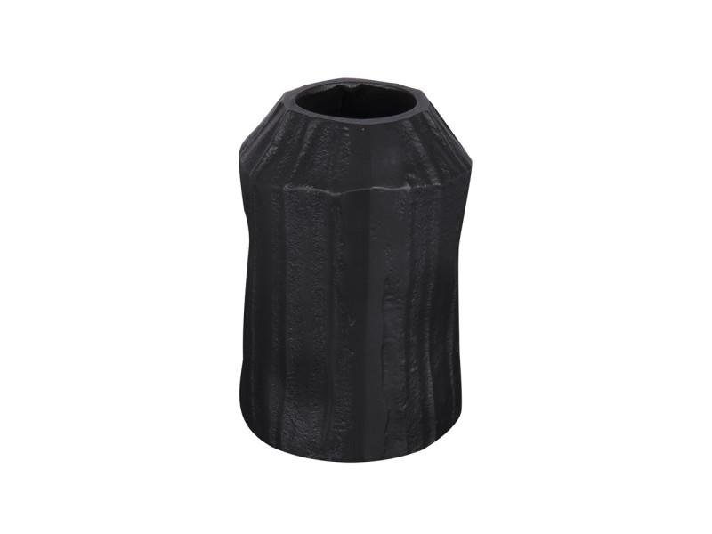 Vase en métal noir canele 15 cm