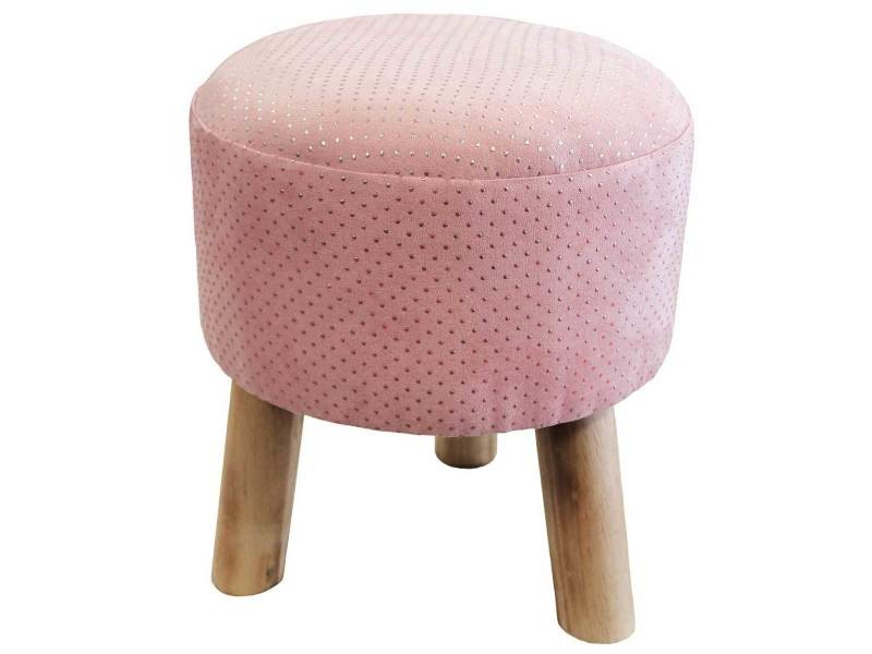 Tabouret marquise rose/argent
