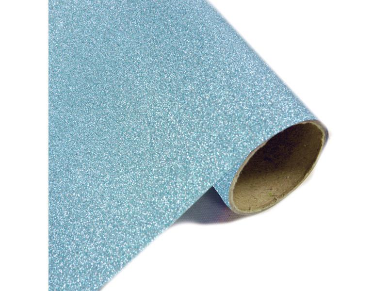 Lot de 10 rouleaux chemin de table effet en métal pailleté turquoise - 28 cm x 5m