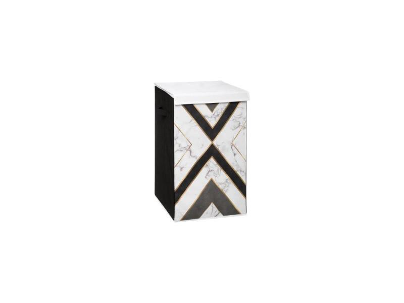 Panier à linge géométrix - 35 x 35 x 60 cm