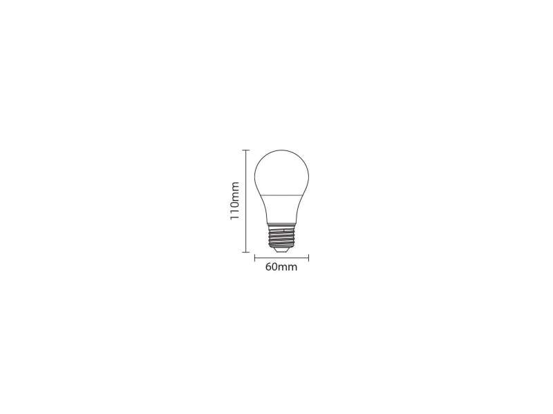 Ampoule e27 9w a60 équivalent 50w - blanc du jour 6000k SP1701
