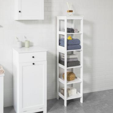 Meuble colonne de salle de bain armoire haute tag re de - Meuble colonne salle de bain conforama ...