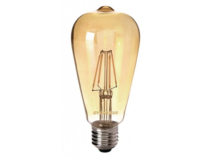 Sylvania ampoule led a filament toledo retro st 64 edison ambré e27 4w équivalence 35w