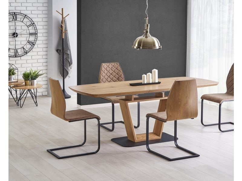 Table à manger extensible 160÷220 cm x 90 cm x 76 cm