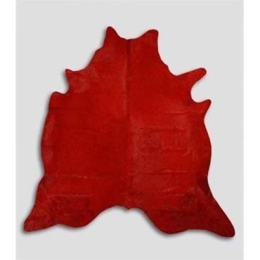 tapis de peau de vache rouge 90113007 conforama. Black Bedroom Furniture Sets. Home Design Ideas
