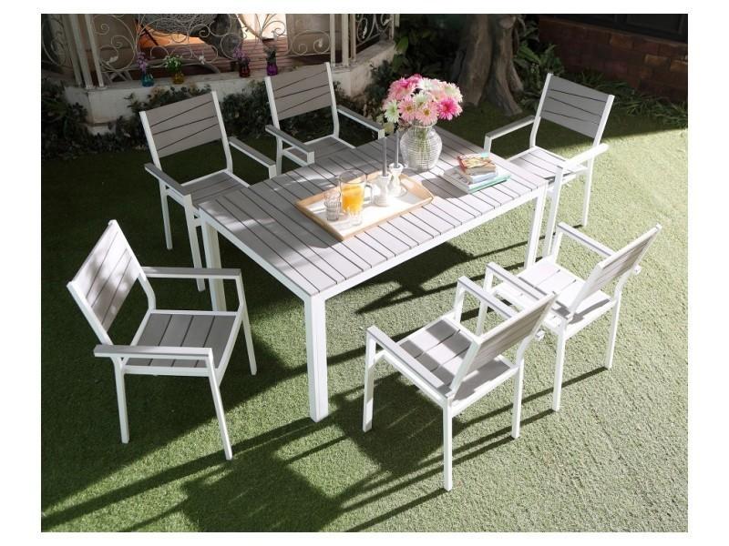 Magnifique salon de jardin perfecto 6 : salon de jardin en aluminium ...