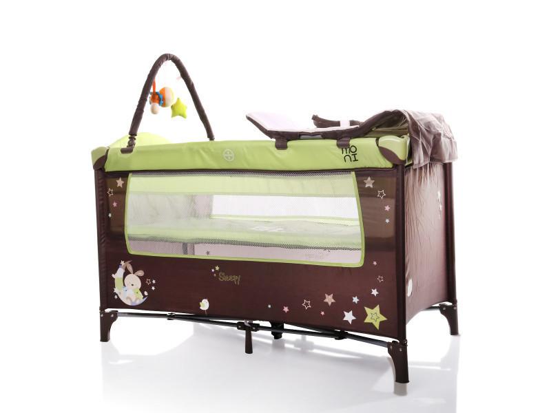 Lit parapluie bébé/ lit pliant/ lit de voyage sleepy vert Sleepy_vert