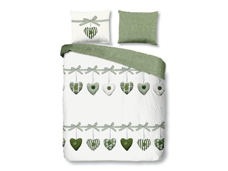 Parure de lit coeurs - 140x200 cm